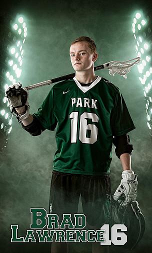 Park high school Lacrosse individual standing portrait