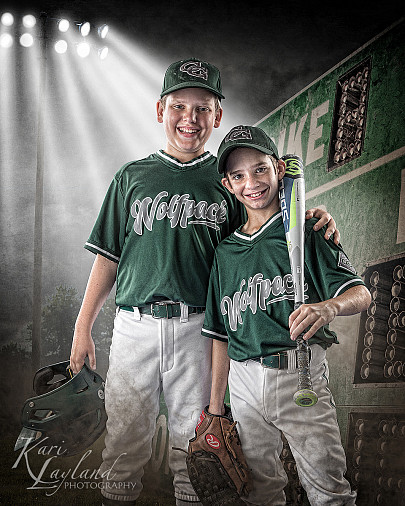 Buddy pose from our baseball team photo shoot