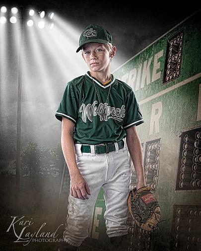 Boys baseball individual standing photos