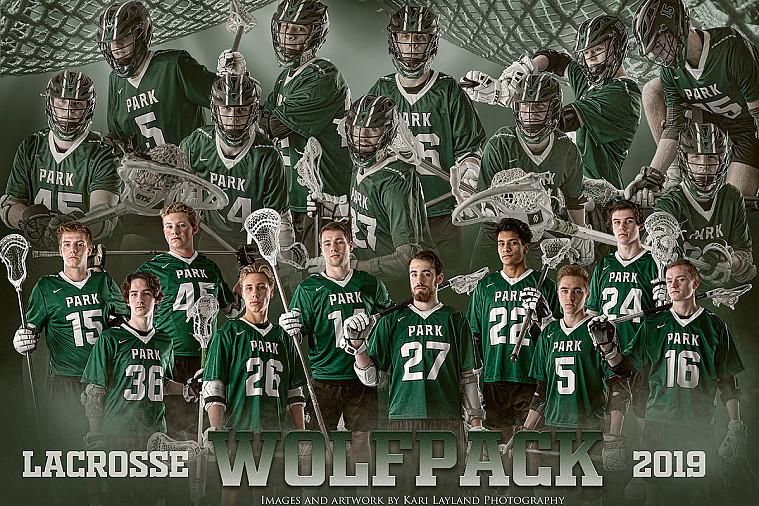 Park Wolfpack Lacrosse senior varsity team poster