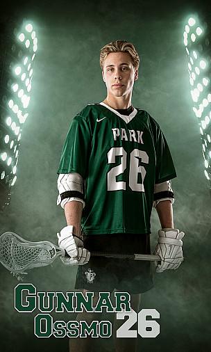 Senior Lacrosse player individual Banner