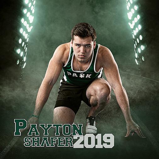 Senior track sprinter individual banner.